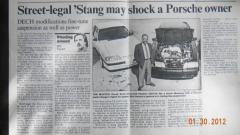 Shock Porsche